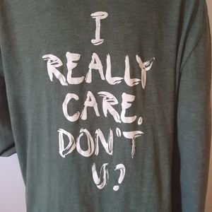 I Really Care, Don't U Wildfang Hoodie XL Green